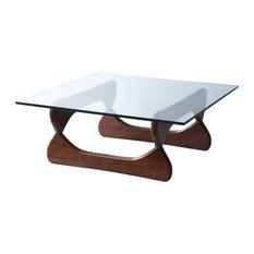 fine mod imports guchi coffee table walnut coffee tables
