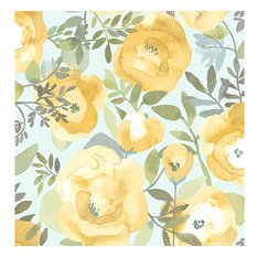 Peachy Keen Yellow Peel & Stick Wallpaper Swatch Sample