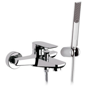 Infinity Chrome Plated Bath Mixer Tap, Shower Kit Included