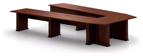 Arkina Fixed V Shaped Presentation Table By Nevers Industries   Desk  Accessories
