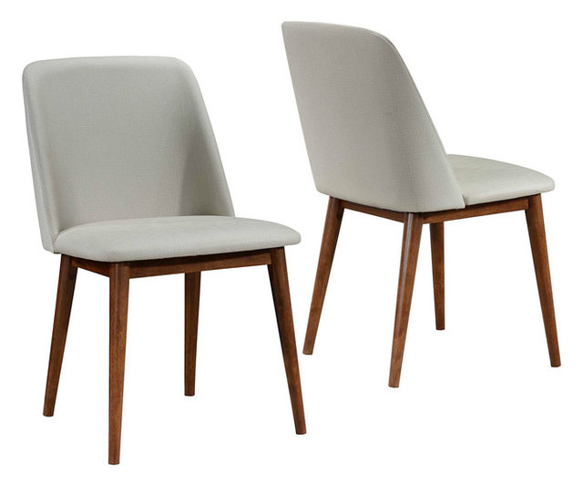 midcentury modern dining chairs. midcentury modern tan upholstered dining chairs dark walnut wood legs, set of 2