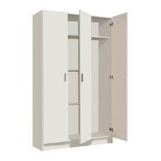 Vita Multi-Use White 3 Door Broom Cupboard