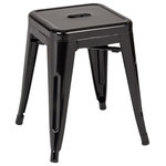 """OSP Home Furnishings - Patterson 18"""" Metal Backless Stool, Orange Solid, Fully Assembled, Set of 2 - Sold As Set of 2"""