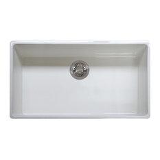 Franke Farm House Undermount Fireclay Kitchen Sink, 36-Inch Width, FHK710-36WH