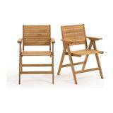2 складных кресла Réalto из акации LA REDOUTE INTERIEURS