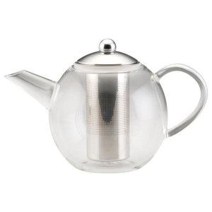 Tea Glass Teapot With Shut-Off Infuser
