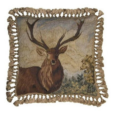 New Aubusson Throw Pillow  Mighty Elk