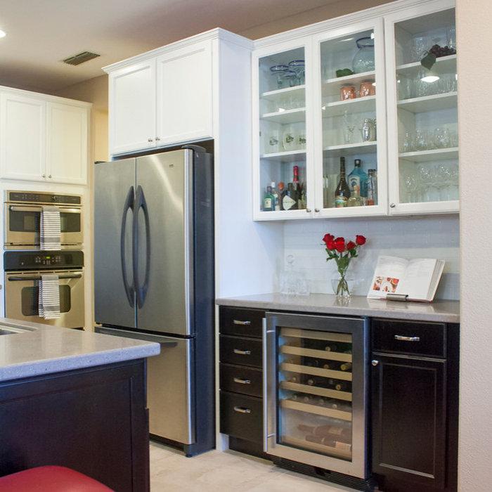 White and Chocolate Kitchen