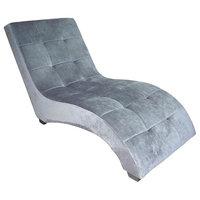 Modern Gray Chaise