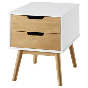 2-Drawer Nightstand, White