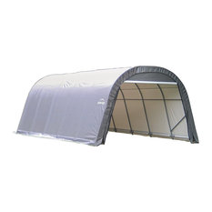 12'x24'x8' Round Style Shelter, Gray Cover
