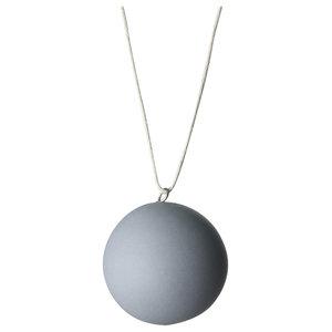 Anne Black Matte Ball Ornament, Grey, Large