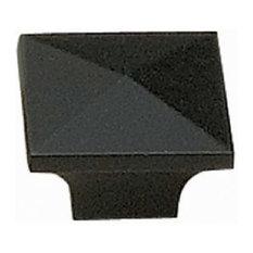 "Richelieu Hardware BP53082900 1.3"" Modern Square Cabinet Knob - Matte Black"