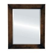 Cafe Framed Rectangle Mirror, Rubbed Bronze, 24x28