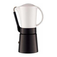 Aerolatte Cafe Porcellana Black 11 Ounce Espresso Maker