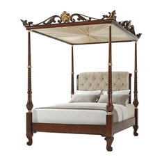 George III Four Post Canopy Bed - Queen Size