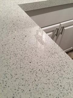 How To Remove Tile Backsplash >> Dull spot on quartz counters - any advice?