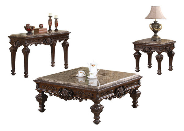 Traditional Living Room Table Set, 3 Piece Set