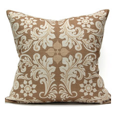 Leaf Square Pillow, Gold