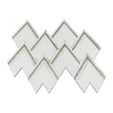 VZAG Vanessa Deleon Tile, White/Antique Mirror