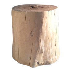 Driftwood Stool With Varnished Top