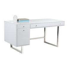 Gloss White Desk Monoprice Desk Mount