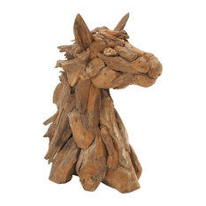 Franklin Teak Horse Head Figurine