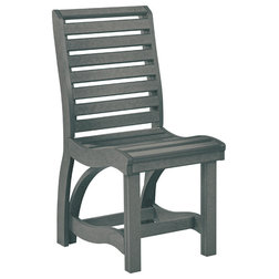 Transitional Outdoor Dining Chairs by C.R. Plastic Products