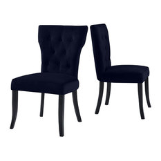 Sterling Upholstered Dining Chairs Set Of 2 Navy Blue