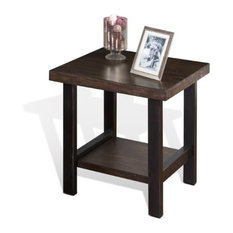 Sunny Designs, Inc.   Sunny Designs Weathered Pine End Table, Weathered  Pine