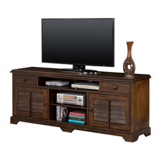 """Sunny Designs, Inc. - Savannah Console With Shutters, 78"""" - Entertainment Centers and Tv Stands"""