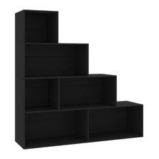 VidaXL Book Cabinet/Room Divider Versatile Black 61-inch Chipboard Display Rack
