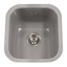 Houzer PCB-1750 SL Porcela Porcelain Enamel Steel Undermount Bar Sink, Slate