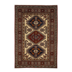 """Shirvan, Hand Knotted Area Rug, 4'2""""x6'2"""""""