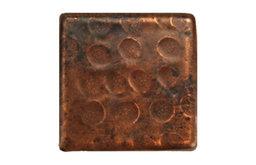 """Hammered Copper Tile, 2""""x2"""", Single"""