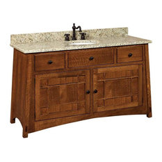 Mccoy Bathroom Vanity, Hickory, Natural, Wood Door