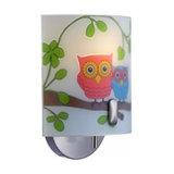 Child-friendly wall light Ugglarp, owl motif