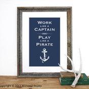 Play like a Pirate Screenprint by Monorail