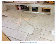 Here I M Playing With The Tile Trying To Find A Nice Flow Veining Detail Thinner Tiles Tend Bow Little More We Just Installed Some Last Year