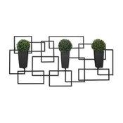 Algreen Vida3, Wall Art With 3 Planters, Mocha