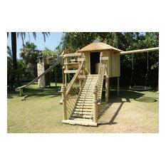 Log Rope Bridge by Treehouse Life