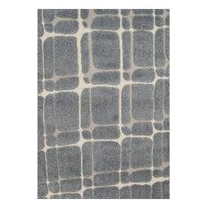 "Loloi Enchant En-30 Geometric Rug, Slate/Sand, 7'7""x7'7"" Square"