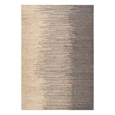 nuLOOM Flatweave Jute/Cotton Hulsey Natural Fibers Striped Area Rug, Gray, 5'x8'
