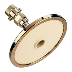 High Sierras All Metal Biscuit Shower Head with Trickle Valve, Brass, 1.5 GPM
