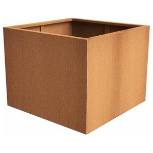 Corten Steel Andes Cube Planter, 50x50x50cm