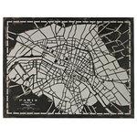 ELK Group International - Laser Cut Map Of Paris Circa 1790 - LASER CUT MAP OF PARIS CIRCA 1790