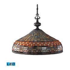Landmark Lighting Jewelstone 3-Light Pendant, Classic Bronze, LED, 800 Lumen