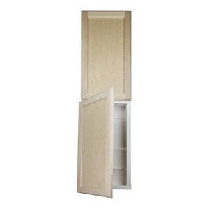 Deville Frameless Recessed 3 Door Pantry Cabinet Transitional