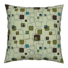 Mid-Century Mid Century Moderne Retro Vintage Throw Pillow Cover Velvet