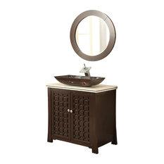 30-inch Vessel Sink Giovanni Bathroom Vanity And Mirror